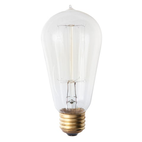 I Love Living Edison 4-Pack Amber 60-Watt Light Bulbs