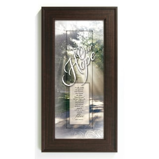 James Lawrence 'For I Know' Motivational Framed Wall Art