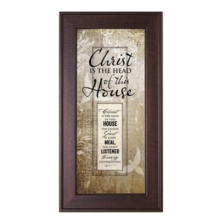 James Lawrence 'Christ Is The Head of this House' Framed Wall Art