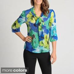Thesis Women's Floral Printed Sheer Blouse