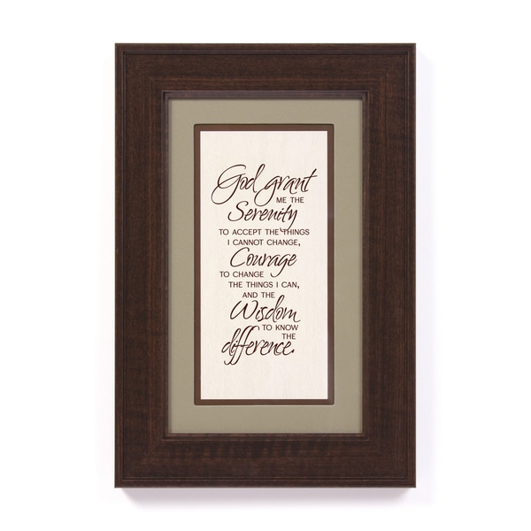 serenity prayer full version framed bathroom