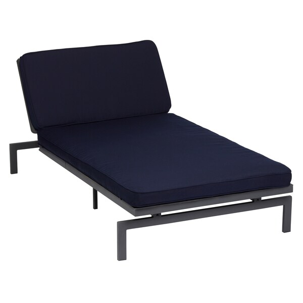 Alyssa navy adjustable indoor outdoor chaise with for Alyssa outdoor chaise lounge