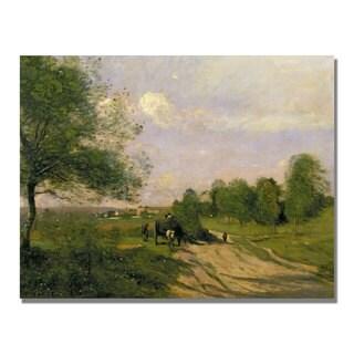 Jean Baptiste Corot 'The Wagon Souvenir of Saintry' Canvas Art