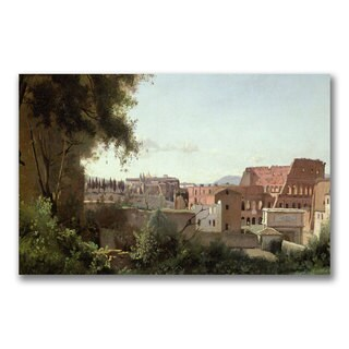 Jean Baptiste Corot 'View of the Colosseum' Canvas Art