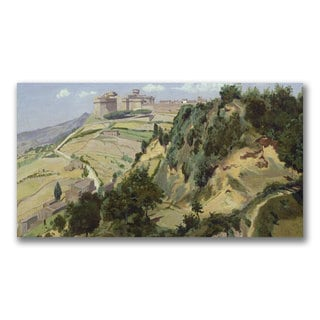 Jean Baptiste Corot 'Volterra 1834' Canvas Art