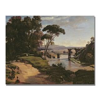 Jean Baptiste Corot 'The Bridge at Narni' Canvas Art