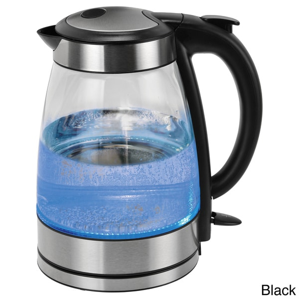 Kalorik Stainless Steel Glass Cordless Electric Water Kettle