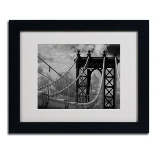 Yale Gurney 'Manhattan Bridge' Horizontal Framed Matted Art