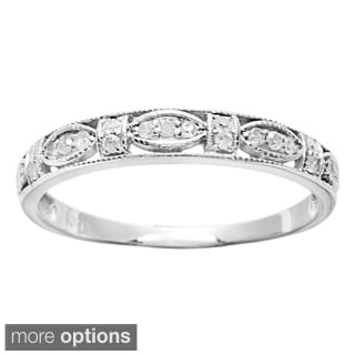 10k Gold 1/5ct TDW Diamond Pave Vintage-style Ring