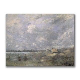 Jean Baptiste Corot 'Stormy Weather' Canvas Art
