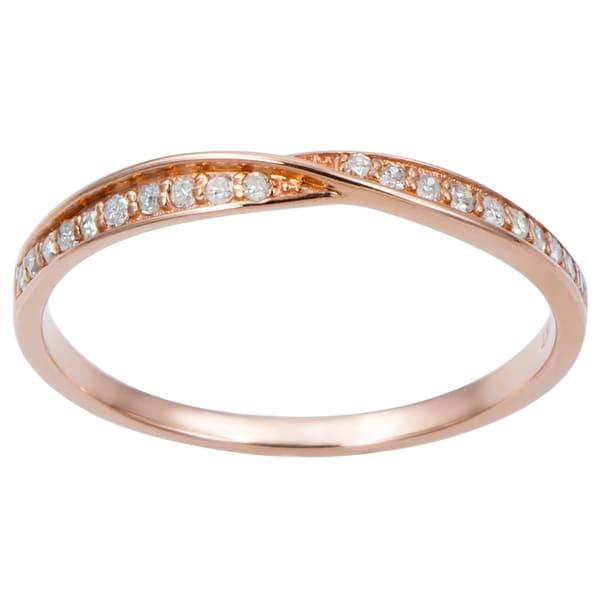 10k Gold 1/4ct TDW Diamond Pave Bypass Band (G-H, I1-I2)