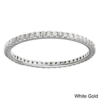 10k Gold 2/5ct TDW Diamond Thin Stackable Band (G-H, I1-I2)