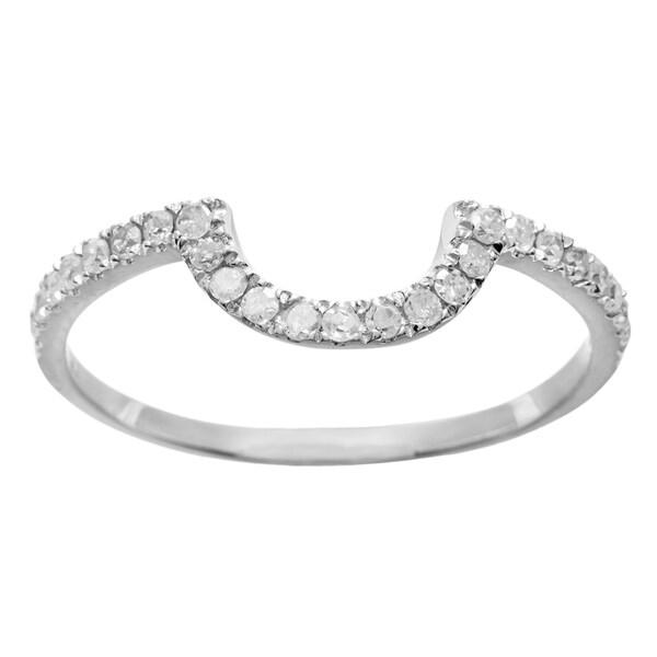 10k White Gold 1/3ct TDW Diamond Curved Wedding Band (G-H, I1-I2)