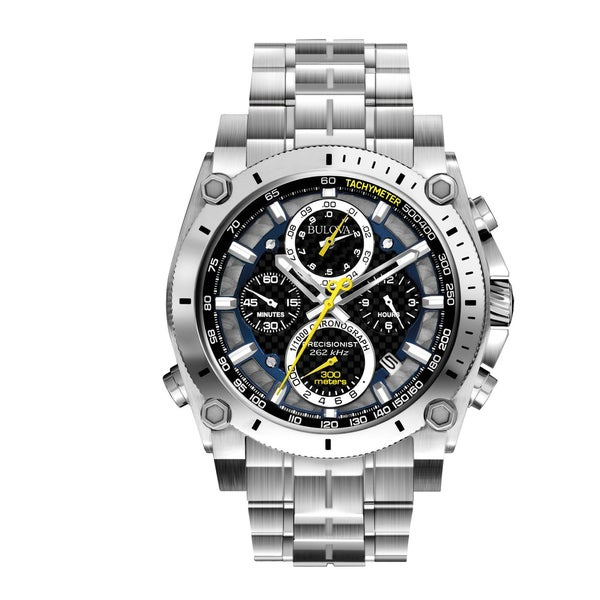 Bulova Men's Precisionist Stainless Steel Chronograph Watch. Opens flyout.