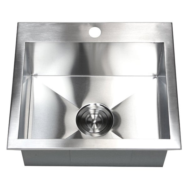 19 Inch 16 Gauge Stainless Steel Topmount Drop In Kitchen Island Bar Sink