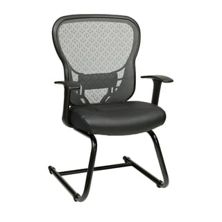 Office Star SpaceGrid Eco Leather Seat Visitor's Chair