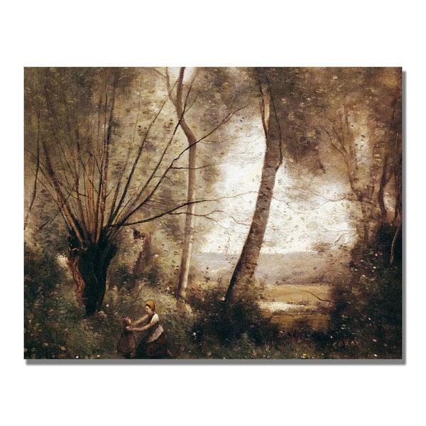Jean Baptiste Corot 'Landscape' Canvas Art