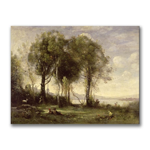 Jean Baptiste Corot 'The Goatherds of the Castle' Canvas Art