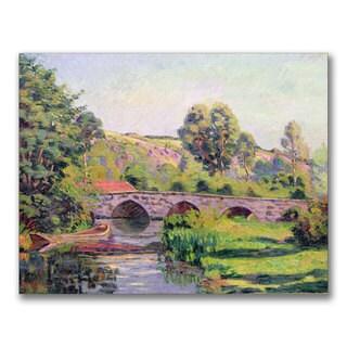 Jean Baptiste Guillaumin 'The Bridge at Boigneville' Canvas Art