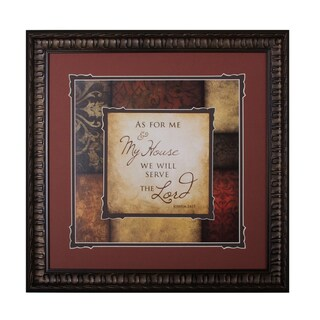 'As For Me' Framed & Double Matted Wall Art
