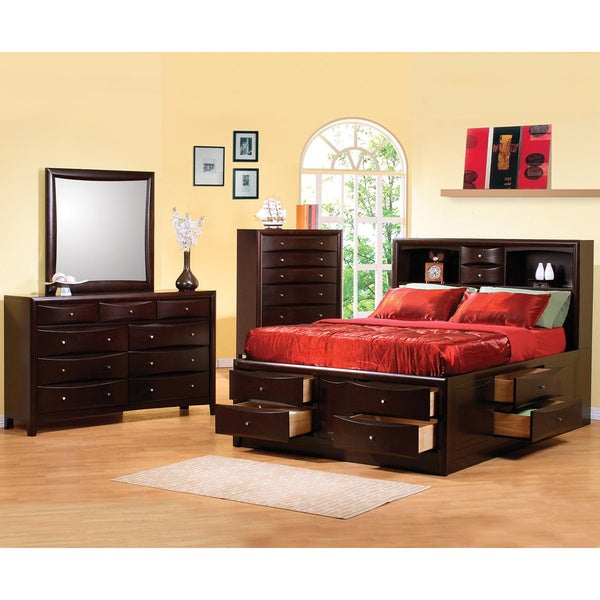 Shop Sahara Cappuccino Brown Queen Bedroom 4-piece Set