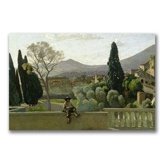 Jean Baptiste Corot 'The Gardens of the Villa' Canvas Art