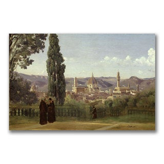 Jean Baptiste Corot 'View of Florence' Canvas Art