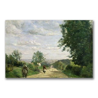 Jean Baptiste Corot 'The Road to Sevres' Canvas Art