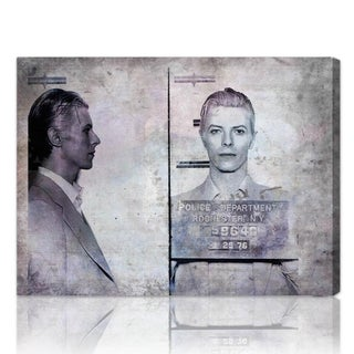 The Oliver Gal Artist Co. 'David Bowie Mugshot' Fine Art Canvas
