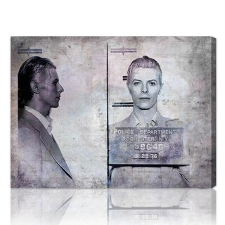 The Oliver Gal Artist Co. 'David Bowie Mugshot' Fine Art Canvas (2 options available)