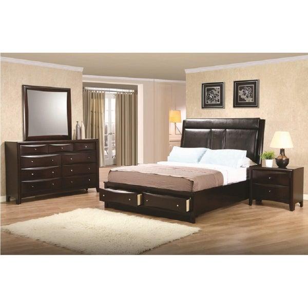 Shop 39 huffington 39 4 piece queen bedroom set free - Bedroom furniture set online shopping ...