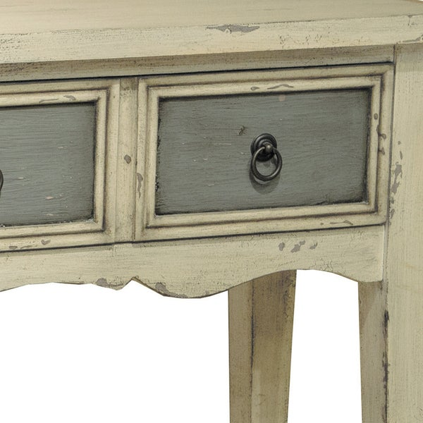 hand painted distressed antique white finish accent console table free shipping today