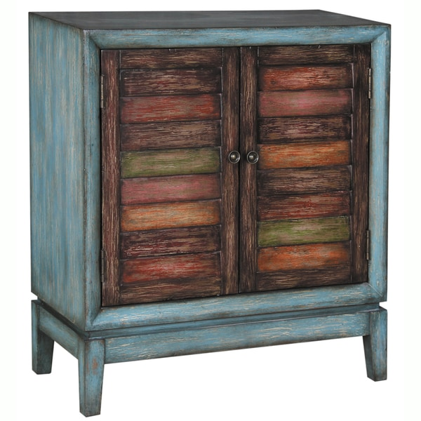 Shop Hand Painted Distressed Antique Blue Finish Accent