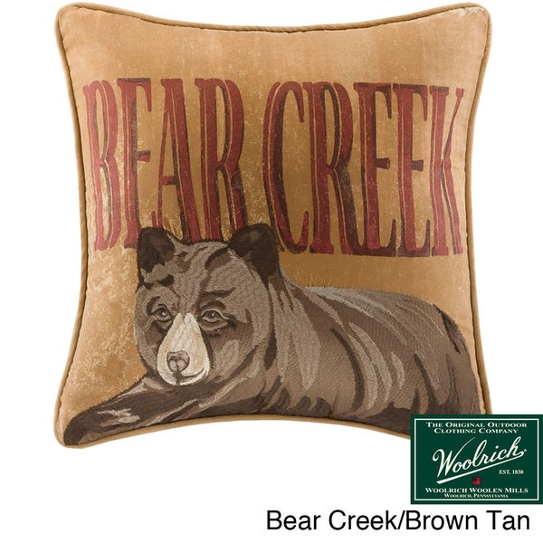 Woolrich Dog Decorative Pillow : Woolrich Bear Creek Decorative Pillow Collection - Multiple Options - Free Shipping On Orders ...