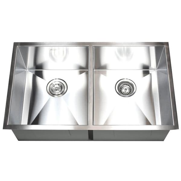 Shop Stainless Steel Double Bowl 50 50 Undermount Kitchen Sink On