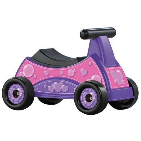 American Plastic Toys Girl's Heart Ride-On, Pink
