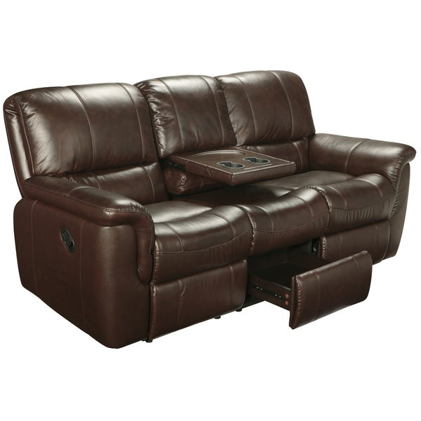 Nice Ethan Chestnut Brown Leather Reclining Sofa, Loveseat And Recliner   Free  Shipping Today   Overstock.com   15442175 Part 11