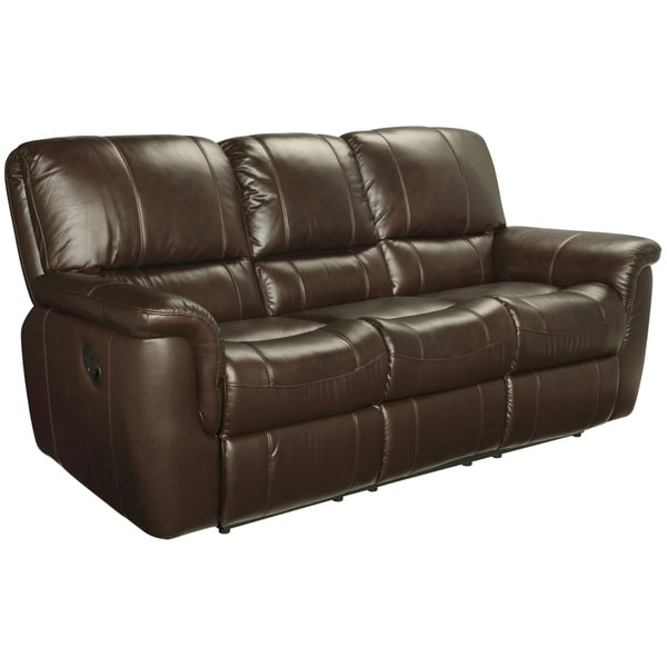 Ethan Chestnut Brown Leather Reclining Sofa Loveseat and Recliner - Free Shipping Today - Overstock.com - 15442175  sc 1 st  Overstock.com : brown leather reclining couch - islam-shia.org