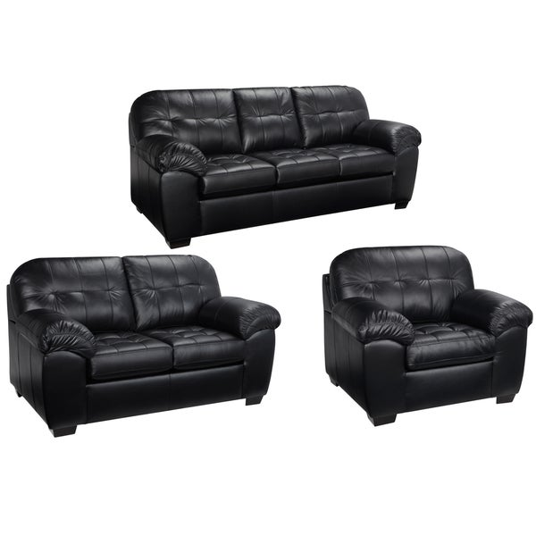 italian leather living room furniture. Emma Black Italian Leather Sofa  Loveseat and Chair Free