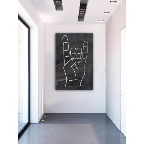 Oliver Gal 'Rock On' Symbols and Objects Wall Art Canvas Print - Black, White