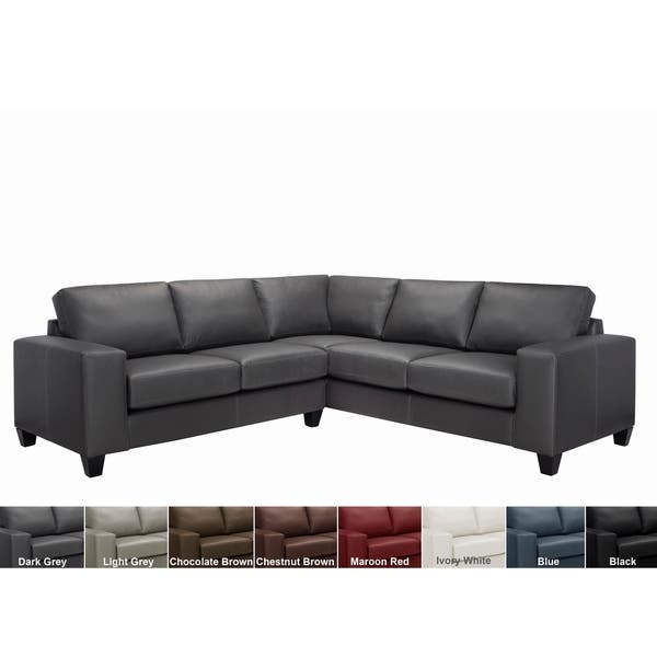 Remarkable Shop Paulina Top Grain Italian Leather Sectional Sofa On Ibusinesslaw Wood Chair Design Ideas Ibusinesslaworg