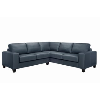 Paulina Top Grain Italian Leather Sectional Sofa