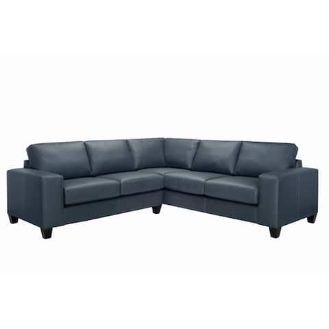Paulina Top Grain Italian Leather Sectional Sofa