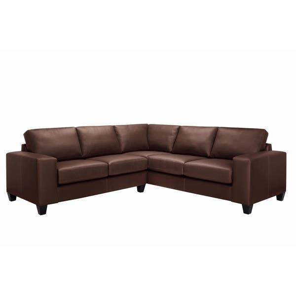 Outstanding Shop Paulina Top Grain Italian Leather Sectional Sofa On Pabps2019 Chair Design Images Pabps2019Com