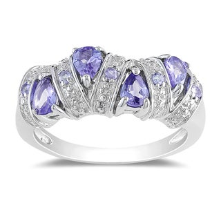 Miadora Sterling Silver Tanzanite Ring