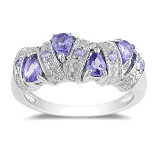 Miadora Sterling Silver Tanzanite Ring