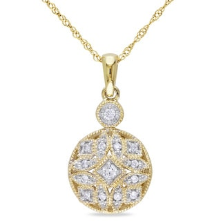Miadora 14k Yellow Gold 1/8ct TDW Diamond Necklace (G-H, I1-I2)