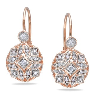 Miadora 14k Rose Gold 1/6ct TDW Diamond Earrings (G-H, I1-I2)