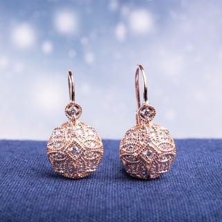 Miadora 14k Rose Gold 1/6ct TDW Diamond Earrings