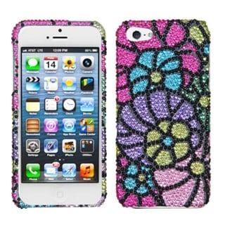 INSTEN Colorful Spring Garden Diamante Phone Case for Apple iPhone 5/ 5S/ SE